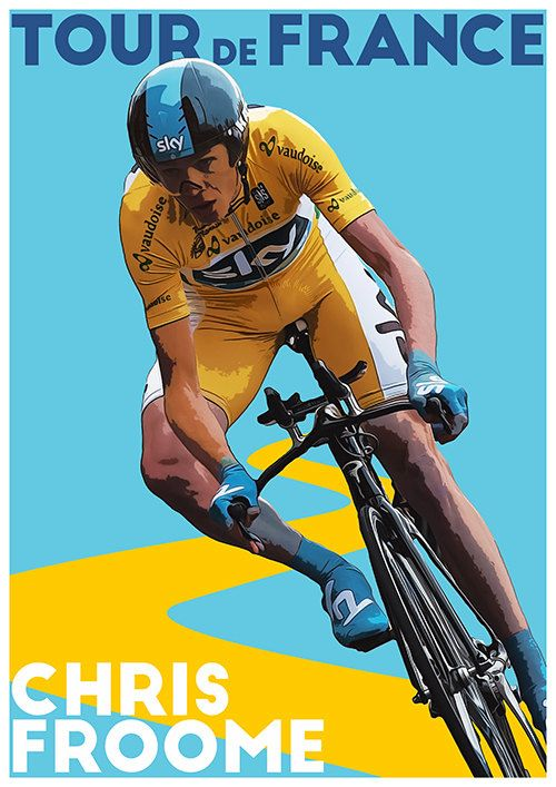 Tour De France Poster Chris Froome TroutLifeStudio