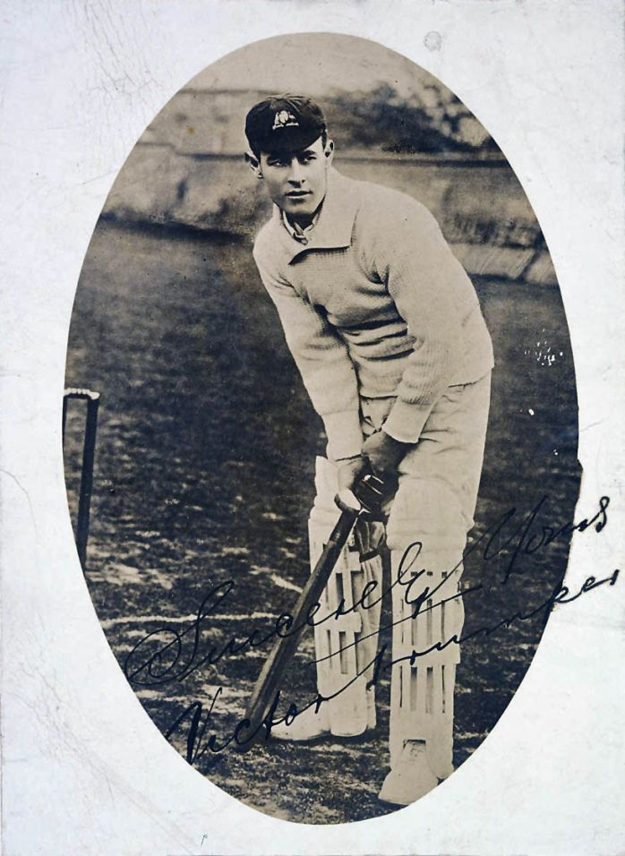 Victor Trumper, cricketer 1902. From the collection of the State Library of New South Wales. Victor Trumper, the 'crown prince of cricket's golden age', died of Bright's disease on 28 June 1915, at the age of only 37. His premature death, just two months after Gallipoli, evoked widespread public grief and over 100,000 mourners attended his funeral. He is buried in Waverley Cemetery.