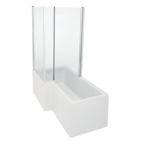 ShowerCube straight bath screen