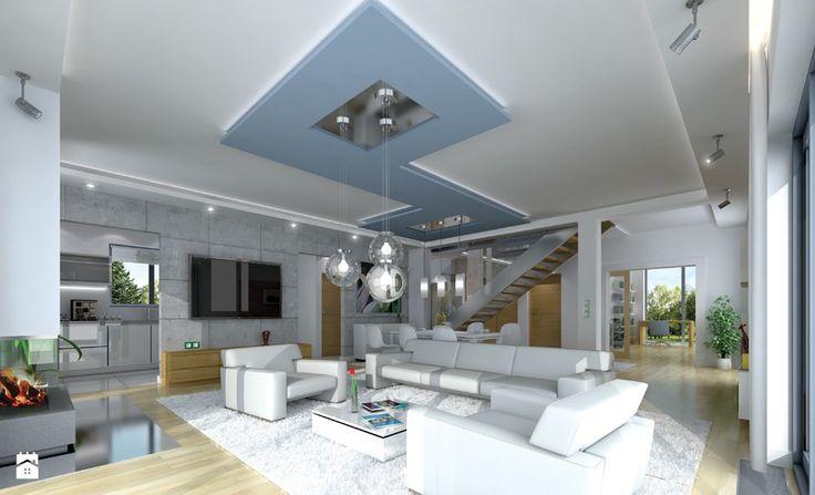 Projekt domu Gala - Salon - zdjęcie od MG Projekt Projekty domów - Salon - Styl Nowoczesny - MG Projekt Projekty domów