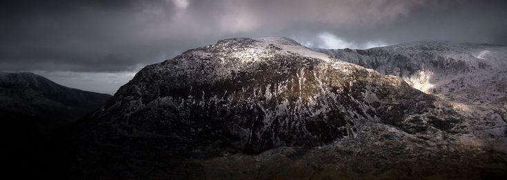 Y Garn in winter, from llyn idwal