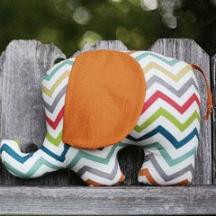 free PDF pattern for elephant softie