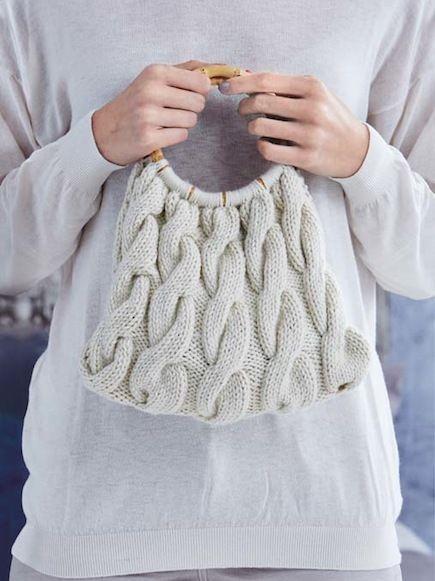 Chunky Cabled Handbag  -  Free Knitting Pattern