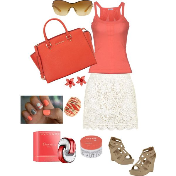 """""""Lovely coral!!!"""" by magica-despell on Polyvore"""