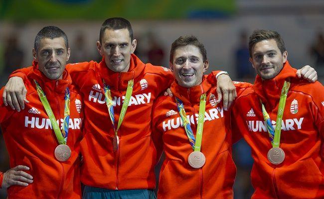Rio 2016 – Bronzérmes a magyar férfi párbajtőrcsapat   Boczkó Gábor, Imre Géza, Rédli András, Somfai Péter