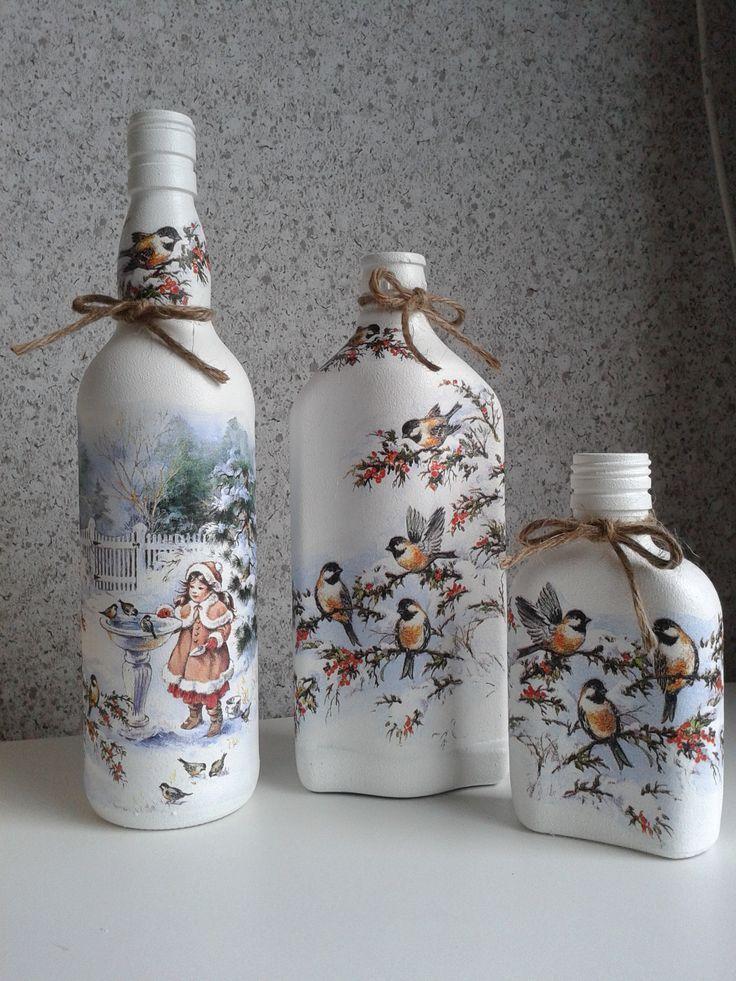 Garrafas Decoradas -  Decorated Bottles -