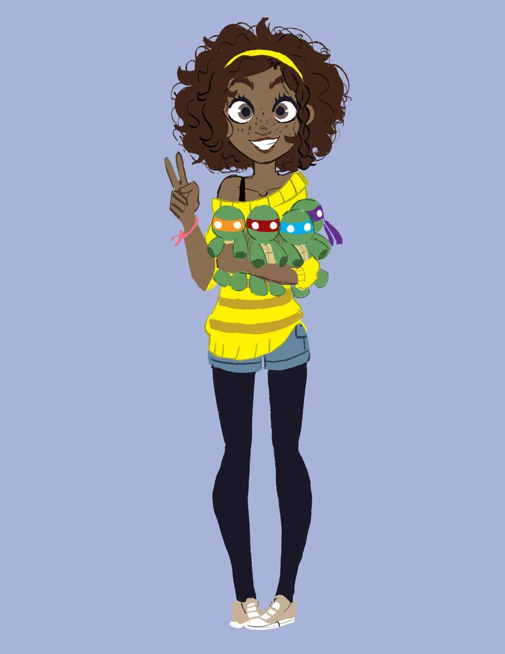 Black April O'Neil I was on a forum talking about what if April was black in the Nick version…so I made this…XD