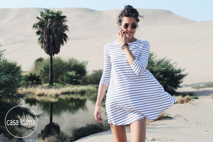 Long Sleeve Swinglet in Stripes