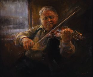 Portrait of Knut Buen, Oil on canvas by Jonny Andvik