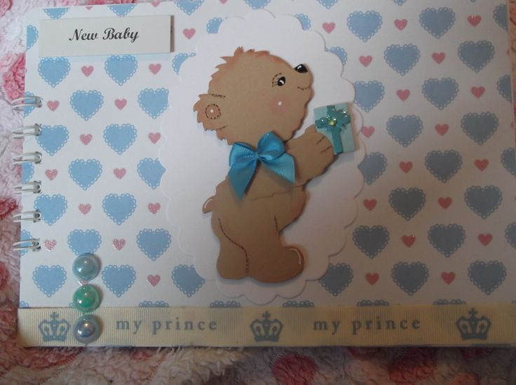 handmade new baby boy memory book