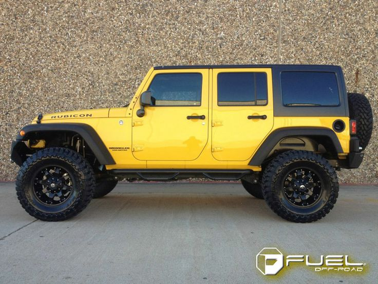 Yellow 4-Door Jeep Wrangler
