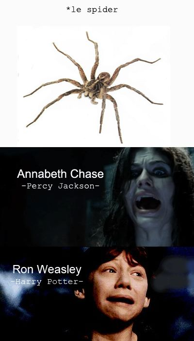 This is so true, and we all know it. I blame my irrational fear of spiders on JK Rowlings and Rick Riordan.... but mostly Riordan. I mean, spiders after MOA? No thank you.