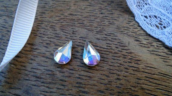 Antique glass tear drop beads.