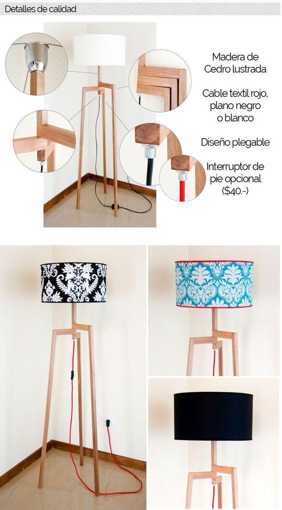 Lámpara De Pie Madera Importada Trípode - Diorama - $ 1.400,00 en MercadoLibre: