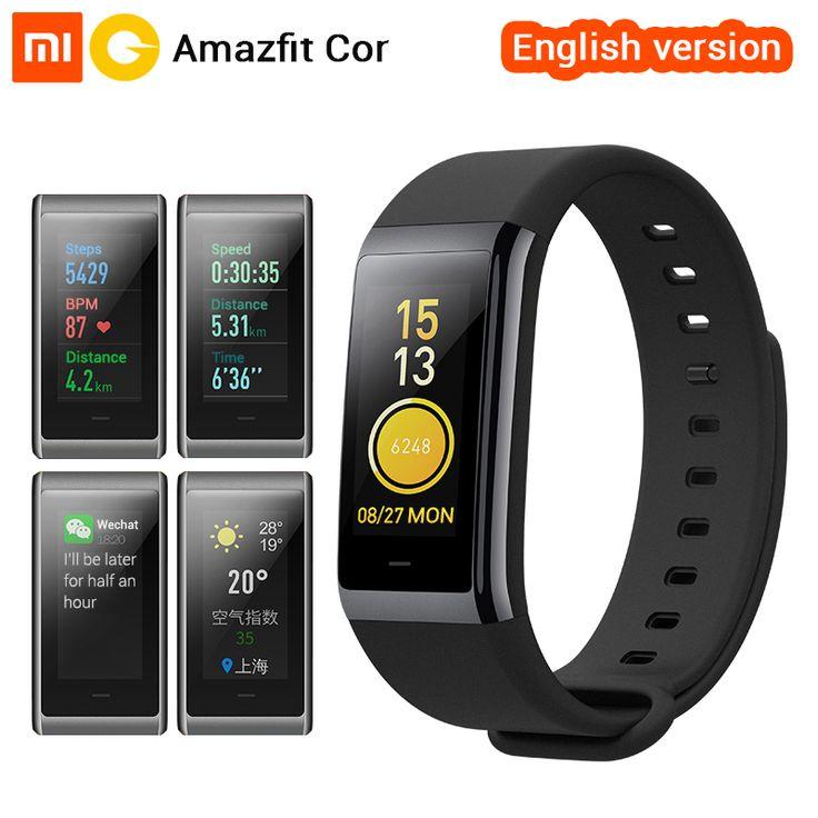 [English Version] Xiaomi Amazfit Cor MiDong Band 1.23 inch Color IPS Screen Smart Wristband Heart Rate Monitor Waterproof 50m