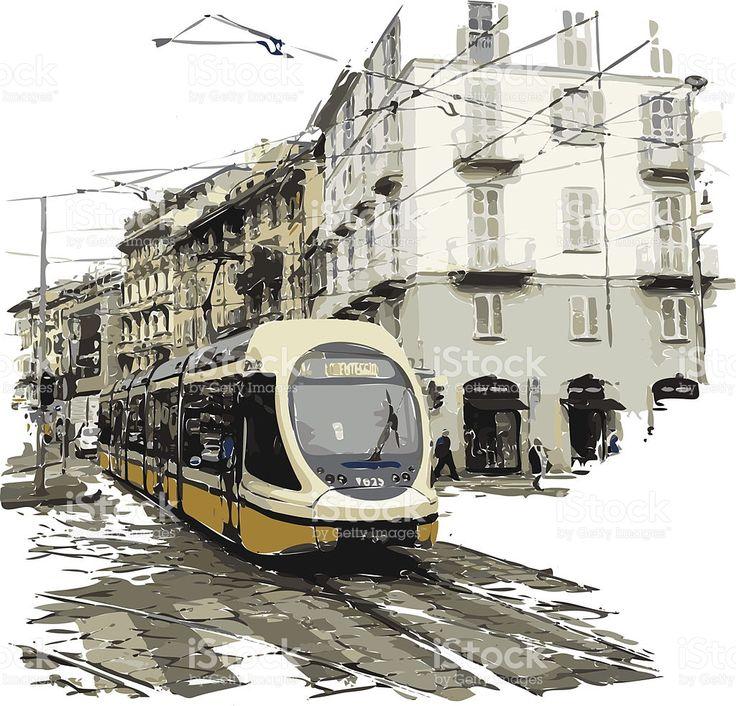 Milan stockowa ilustracja wektorowa royalty-free