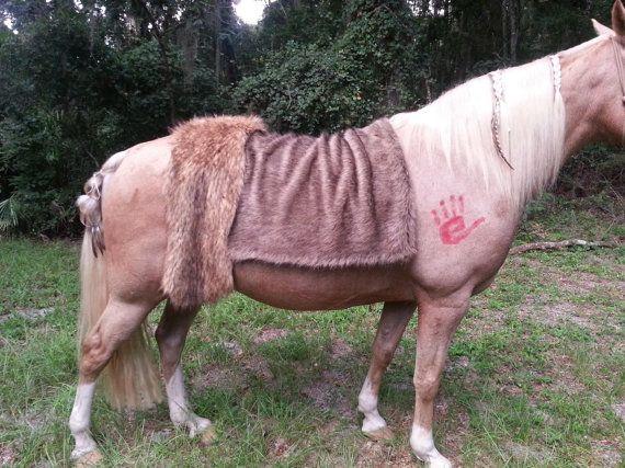 Fourrure de faux ours brun cheval couverture  par MyBuddyBling