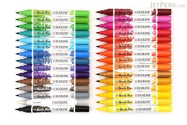 Royal Talens Ecoline Watercolor Brush Pen 30 Color Bundle
