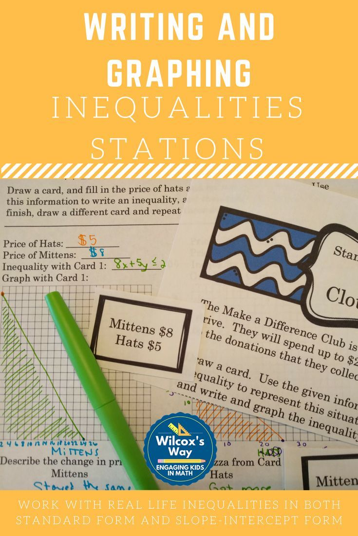56 best inequalities images on pinterest classroom ideas math writing and graphing inequalities in 2 variables stations robcynllc Images