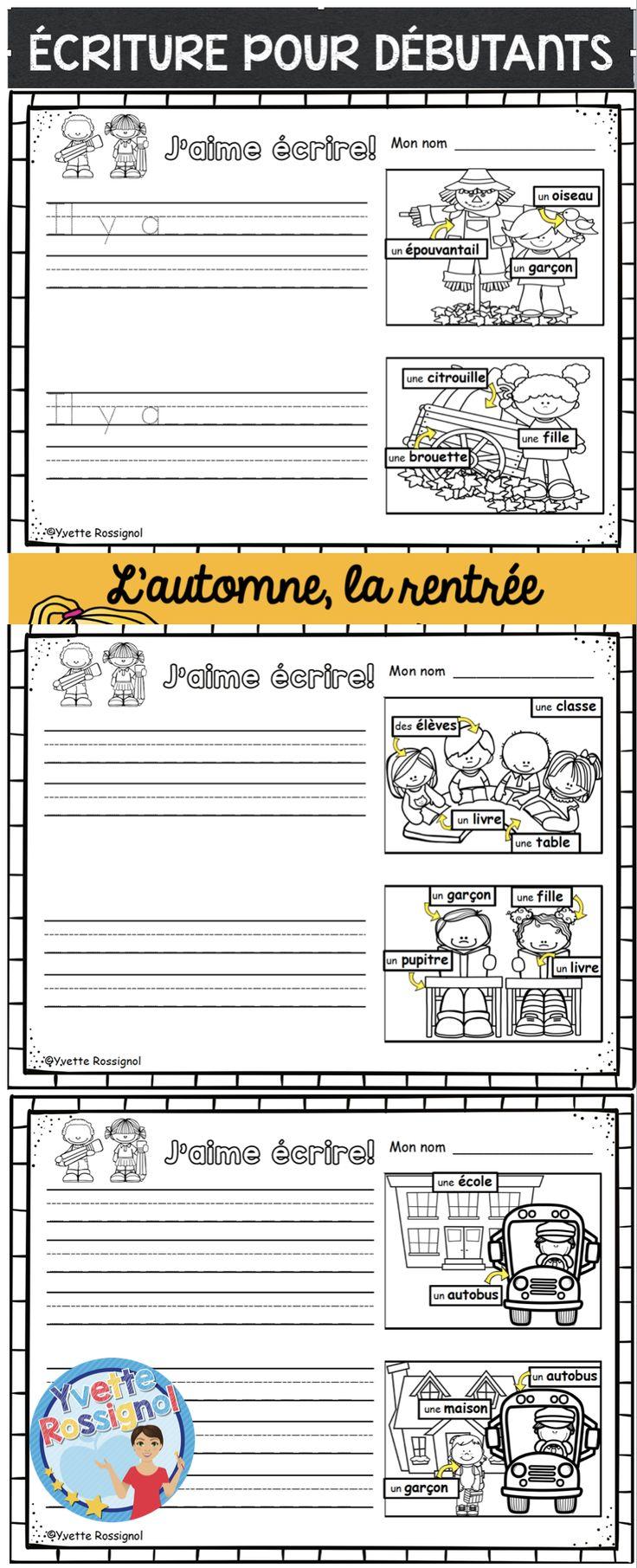 Étiquettes-mots, images et 3 choix pour différentiation! Parfait pour maternelle, première année (1er cycle)!