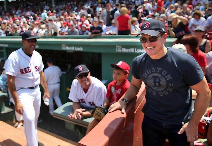 Matt Damon at the Red Sox game today against the Chicago White Sox •08/06/17•