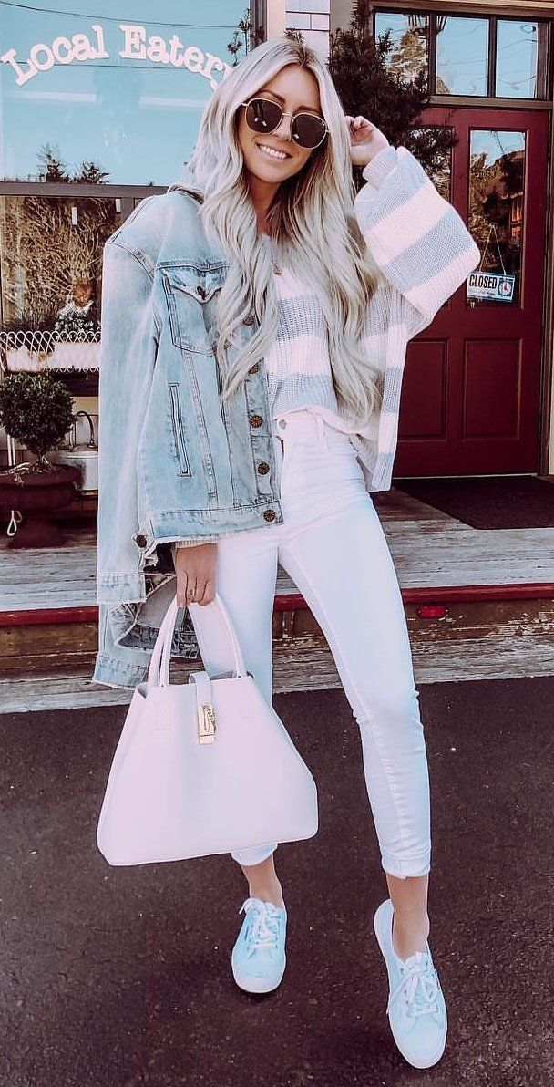 white pants #spring #outfits