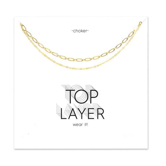 Горячие Продажи двойная цепь choker ожерелье золотой цвет покрытием ожерелье Ключицы Цепи Себе Ожерелье Женщины Ювелирные Изделия