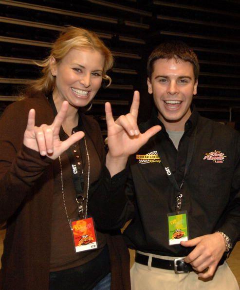 Niki Taylor and NASCAR Driver Burney Lamar