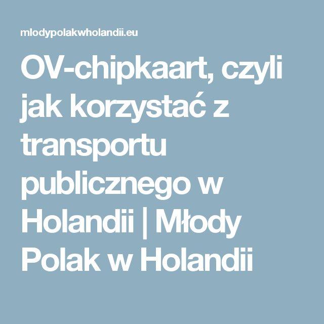 OV-chipkaart, czyli jak korzystać z transportu publicznego w Holandii | Młody Polak w Holandii
