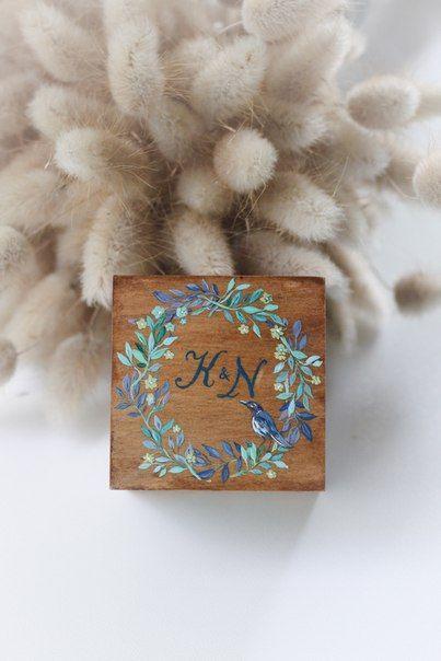 Шкатулка для колец Авторский Киоск Ручная роспись Натуральное дерево