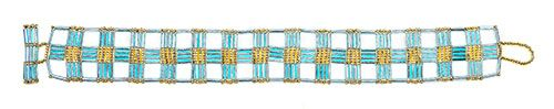 Bugle beads create a geometric lace effect | BeadandButton.com
