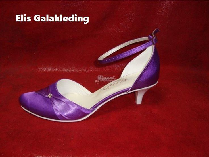 Gala schoenen satijn met strass