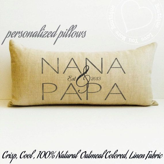 grandparent gift nana gift nana and papa by LoveYouMoreBoutique