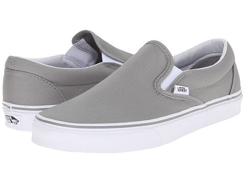 Vans Classic Slip-On™ Wild Dove/True White - Zappos.com Free Shipping BOTH Ways
