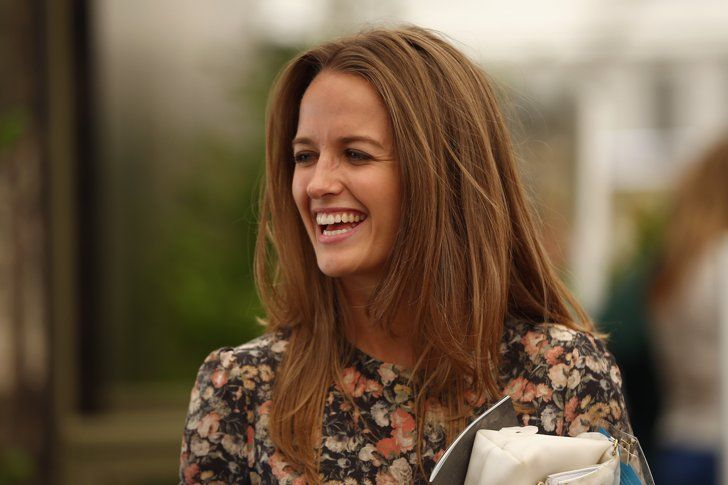 Pin for Later: Around the World With the Week's Best Photos Glowing Grin Kim Sears, tennis player Andy Murray's girlfriend, flashed a big smile at the Chelsea Flower Show in London.