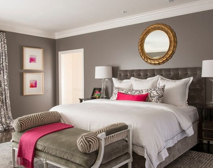 neutrals with a pop of hot pink - Hot Bedroom Designs
