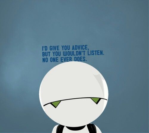 Marvin The Paranoid Android With Images Hitchhikers