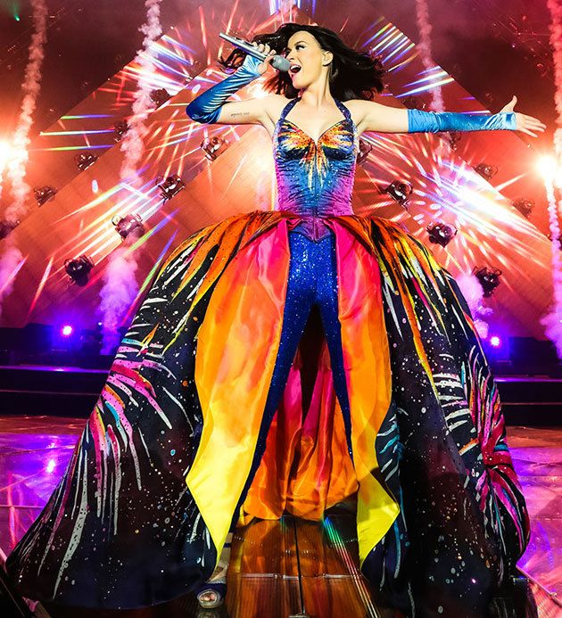 katy perry and her special microphones 2014 | Katy Perry's 9 Best Prism Tour Outfits: 90s Barbie Wants Her Wardrobe ...