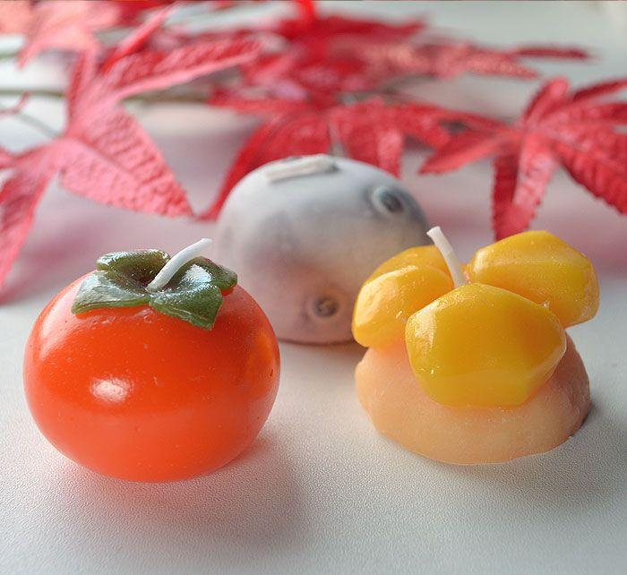 好物 ろうそく キャンドル 秋のお彼岸 和菓子 進物 御供 御仏前 ミニチュア ローソク
