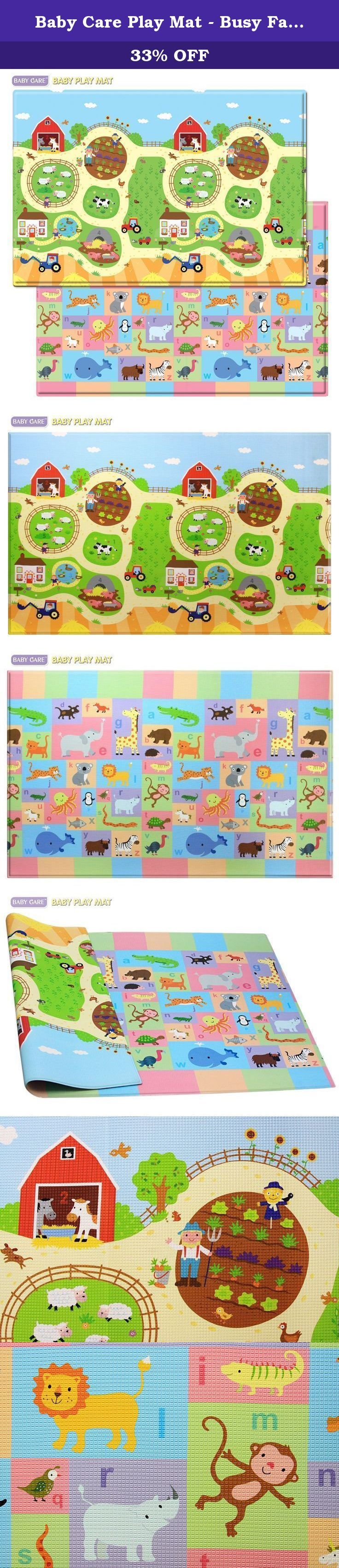 Baby Care Play Mat - Busy Farm (Large). Developed specifically for growing babies and children, BABYCARE Baby Play Mat provides hygienic and safe floor space for the family with small ones. Babies and children can play safely on the floor, with stimulating and vibrant colors, characters, and educational elements like letters and numbers. This Play Mat is an essential item for the safe growth and development of your baby and toddler. It protects children from hard floor surfaces…