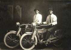 William Harley and Arthur Davidson, 1914.  Founders of the Harley-Davidson motorcycle