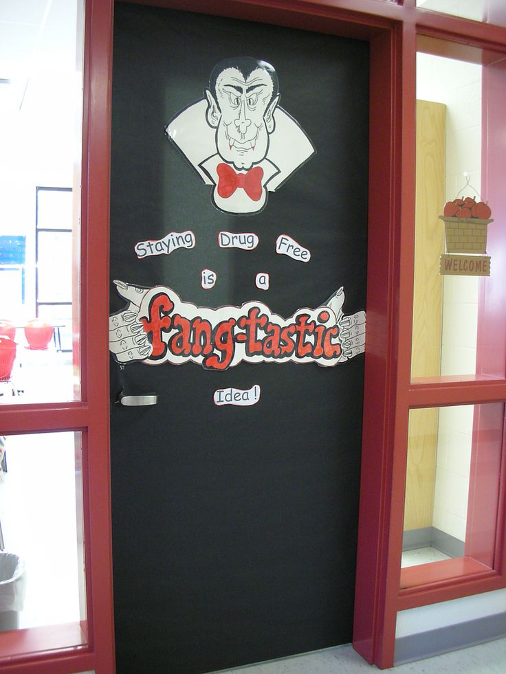 door decorations for red ribbon week flickr photo sharing - Cute Halloween Door Decorations