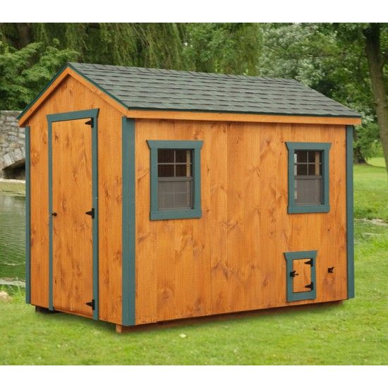 Amish a frame chicken coop 6x10 amish chicken coops for A frame chicken