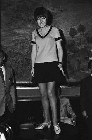 If you were born in 1964 that year English fashion designer Mary Quant introduced the mini skirt and we are still wearing them today 50 years later - not many fashion trends have stood the test of time like the mini skirt has! (This is a photo of Mary Quant in 1964)