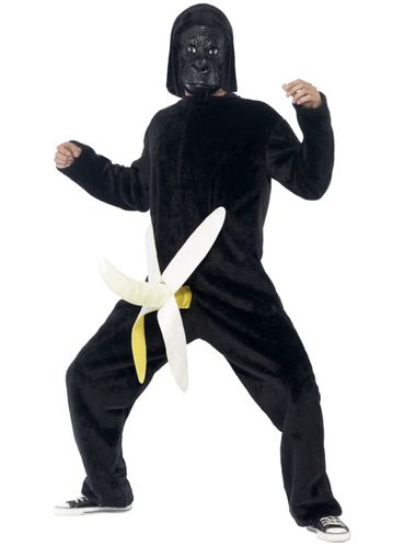 Disfraz de gorila con plátano para hombre: comprar online en Funidelia.