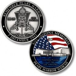 USS Arizona Memorial Challenge Coin  https://store.nwtmint.com/product_details/8528/USS_Arizona_Memorial_Challenge_Coin/