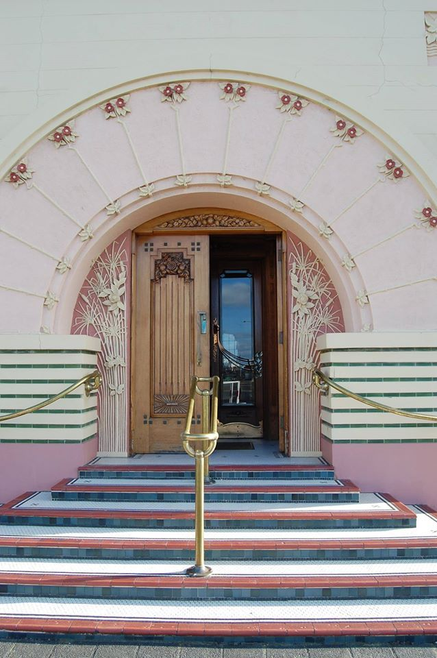 Lovely art deco detail from the National Tobacco Company building in Napier