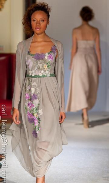 Noor dress, hand painted, unique