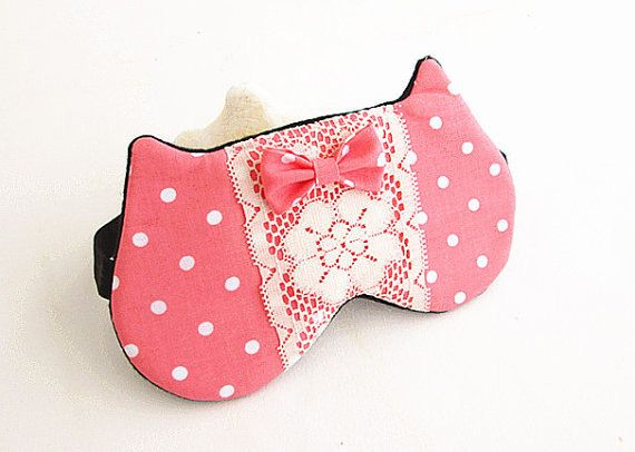 Bow Eye mask Sleep mask Eye sleep mask Kitty eye by BowFantasy, $13.75