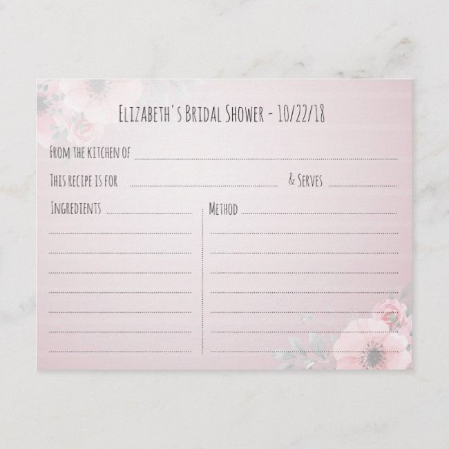Create Your Own Invitation Postcard Zazzle Com Bridal Shower Recipes Cards Create Your Own Invitations Recipe Cards Template